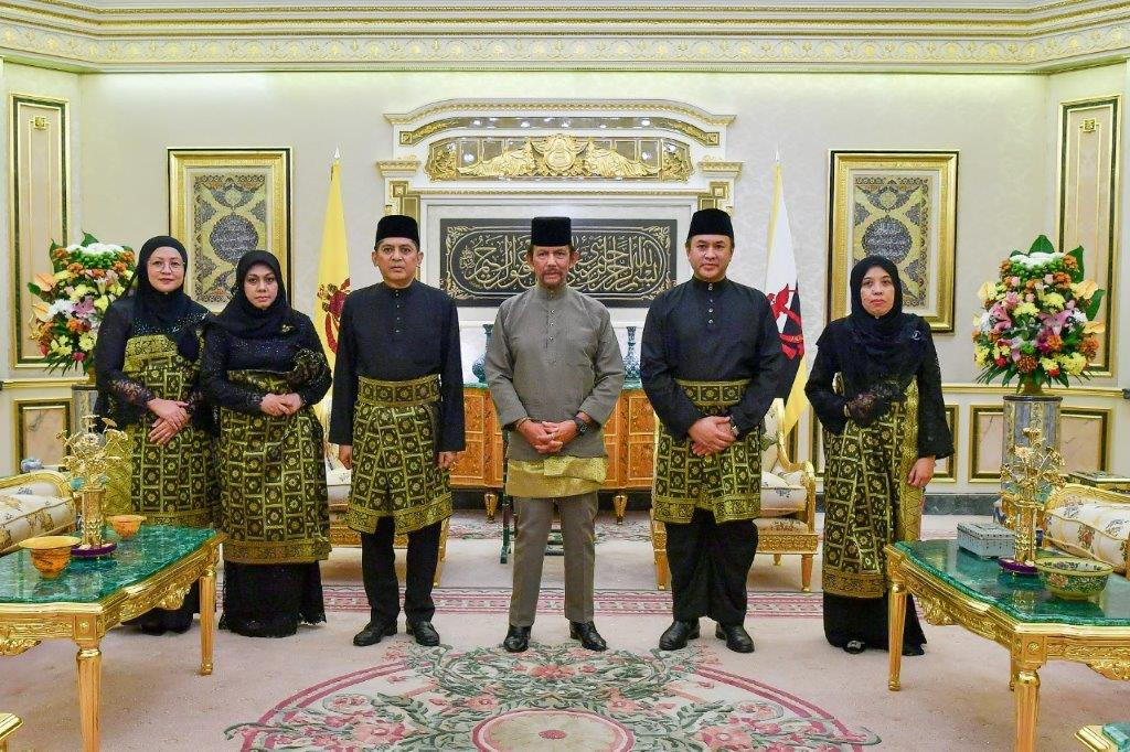 10 June 2020 -  HIS MAJESTY THE SULTAN AND YANG DI-PERTUAN OF BRUNEI DARUSSALAM PRESENTS AND RECEIVES LETTERS OF CREDENCE FOR NEWLY-APPOINTED ENVOYS