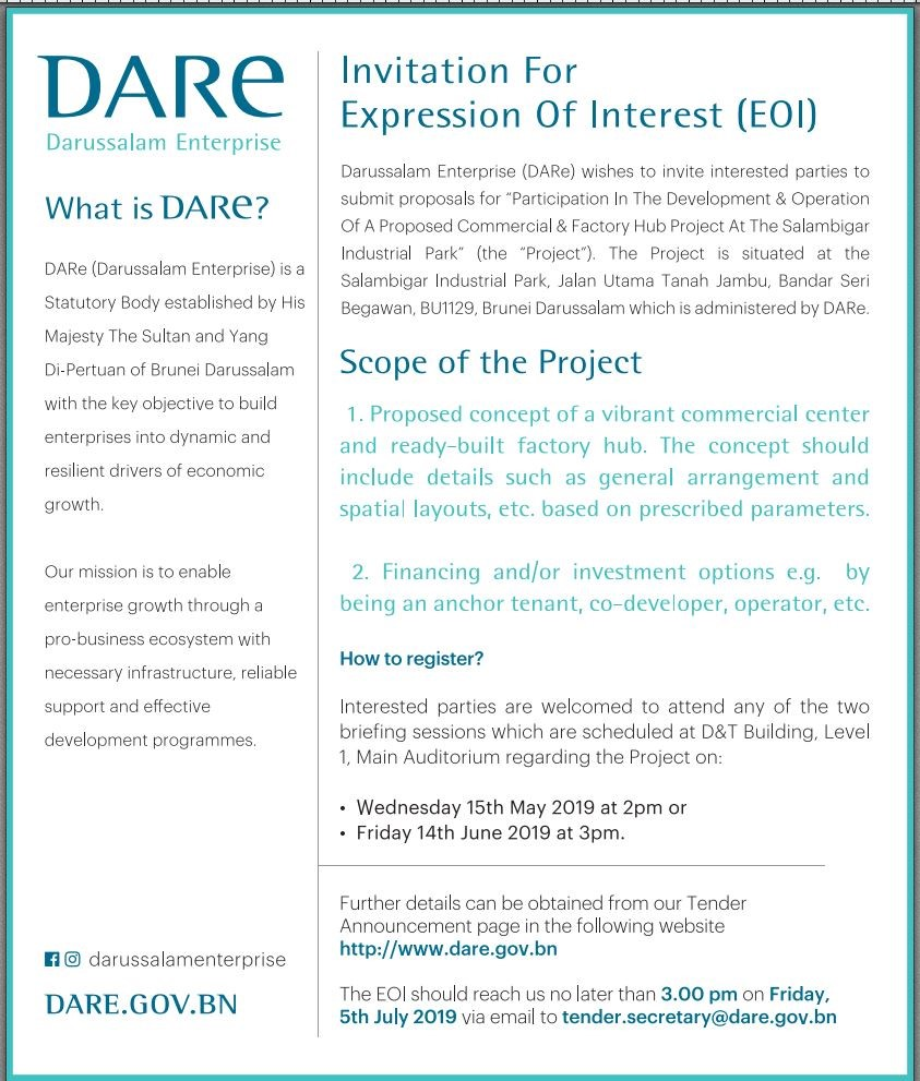 Announcement - Invitation For Expression of Interest (EOI)